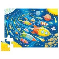 Puzzle Vesmírne preteky 24ks