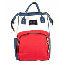 Prebalovací batoh na kočík - bielo-červený