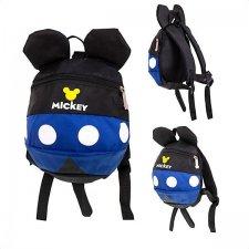 Detský batoh s ušami: Mickey Mouse + vôdzka