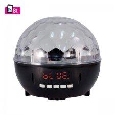 Disko lampa, prehrávač hudby, rádio, Bluetooth, 6xLED