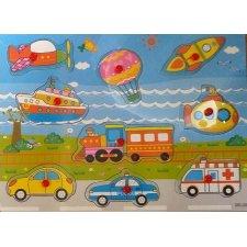 Drevené puzzle pre deti: Autá