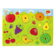 Drevené puzzle pre deti: Ovocie
