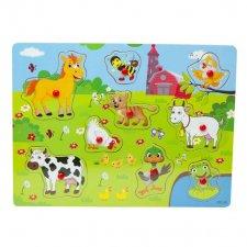 Drevené puzzle pre deti: Zvieratká