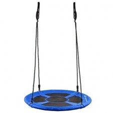 Hojdací kruh bocianie hniezdo - 120 cm - čierno-modrá