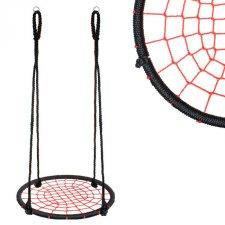 Hojdací kruh pavučina - 80 cm - čierno-červený
