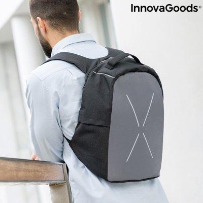 InnovaGoods Bezpečnostný batoh proti krádeži