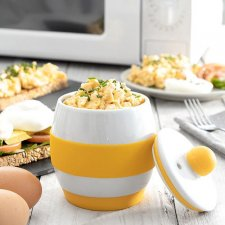 InnovaGoods Keramická nádoba na prípravu vajíčok do mikrovlnky s receptami
