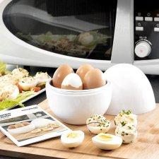 InnovaGoods Varič na vajíčka do mikrovlnnej rúry s receptami
