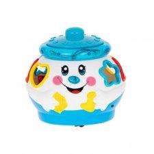 Kúzelný hrací hrniec - modrobiely