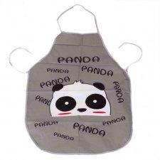 Kuchynská zástera Panda - sivá