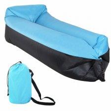 Lazy bag – nafukovací vak: čierno-modrý