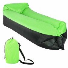 Lazy bag – nafukovací vak: čierno-zelený