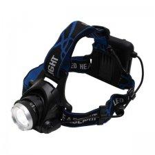 LED čelovka, zoom