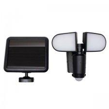 LED reflektor so solárnym panelom a senzorom pohybu