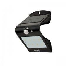 LED reflektor so solárnym panelom, s pohybovým senzorom, čierna
