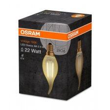 Led žiarovka filament sviečka e14 2,5w 2500k 220lm osram - teplá biela