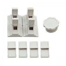 Magnetické zámky 4ks + kľúč