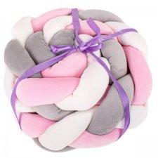 Mantinel: Vrkoč - Biela-šedá-rúžová - 3m