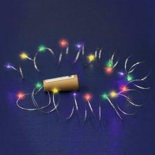 Micro LED svietiaci reťazec, batériový, farebná