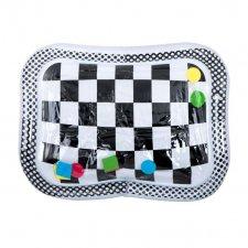 Nafukovacia vodná podložka čiernobiela šachovnica so vzormi - 65cm x 50cm