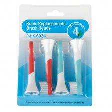 Náhradné hlavice pre detské zubné kefky P-HX-6034 – 4ks