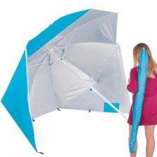 Plážový stan a slnečník 2v1 - modrý 220cm