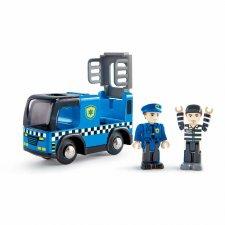 Policajné auto so sirénou