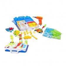 Puzzle bloky v kufri 4v1 + skrutkovač - 237ks