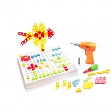 Puzzle bloky v kufri + skrutkovač - 261ks