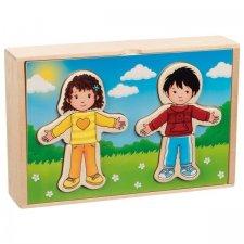 Puzzle Obleč deti