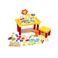 Puzzle sada kociek + stôl + skrutkovač - 296ks
