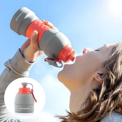 InnovaGoods Skladacia silikónová fľaša na vodu