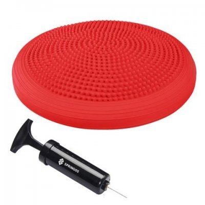 SPRINGOS Balančný senzorický disk PRO - červený