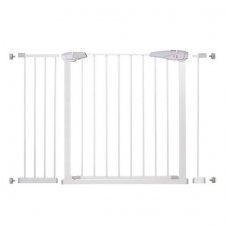 SPRINGOS Bezpečnostná bariérová zabrána pre schody a dvere - biela - 76-120 cm