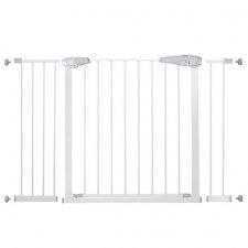 SPRINGOS Bezpečnostná bariérová zábrana pre schody a dvere - biela - 76-127 cm