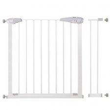 SPRINGOS Bezpečnostná bariérová zabrána pre schody a dvere - biela - 76-99 cm
