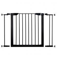 SPRINGOS Bezpečnostná bariérová zabrána pre schody a dvere - čierna - 75-103 cm