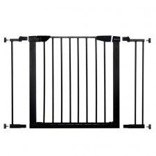 SPRINGOS Bezpečnostná bariérová zábrana pre schody a dvere - čierna - 75-103cm