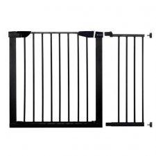 SPRINGOS Bezpečnostná bariérová zábrana pre schody a dvere - čierna - 75-110 cm