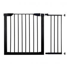 SPRINGOS Bezpečnostná bariérová zabrána pre schody a dvere - čierna - 75-110 cm