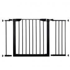 SPRINGOS Bezpečnostná bariérová zabrána pre schody a dvere - čierna - 75-117 cm