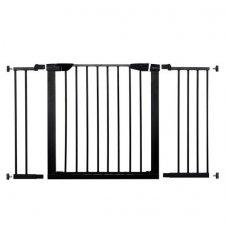 SPRINGOS Bezpečnostná bariérová zabrána pre schody a dvere - čierna - 75-124 cm