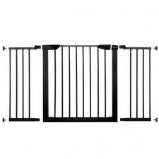 SPRINGOS Bezpečnostná bariérová zabrána pre schody a dvere - čierna - 75-138 cm