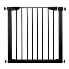 SPRINGOS Bezpečnostná bariérová zábrana pre schody a dvere - čierna - 75-82 cm