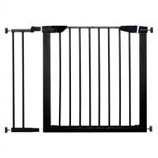 SPRINGOS Bezpečnostná bariérová zabrána pre schody a dvere - čierna - 75-96 cm