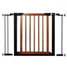 SPRINGOS Bezpečnostná bariérová zabrána pre schody a dvere - čierno-hnedá - 75-103 cm