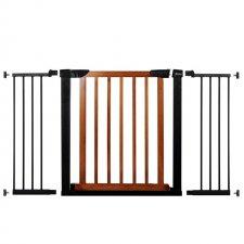 SPRINGOS Bezpečnostná bariérová zabrána pre schody a dvere - čierno-hnedá - 75-138 cm