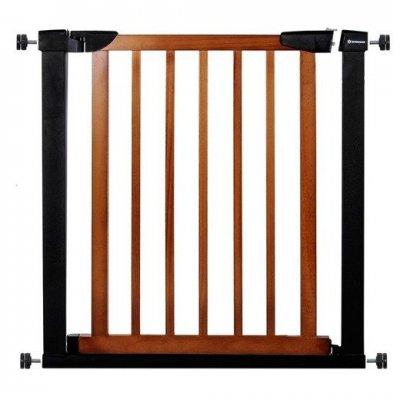 SPRINGOS Bezpečnostná bariérová zabrána pre schody a dvere - čierno-hnedá - 75-82 cm