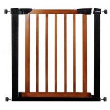 SPRINGOS Bezpečnostná bariérová zábrana pre schody a dvere - čierno-hnedá - 75-82 cm