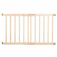 SPRINGOS Bezpečnostná bariérová zábrana pre schody a dvere - drevená - 72-122 cm